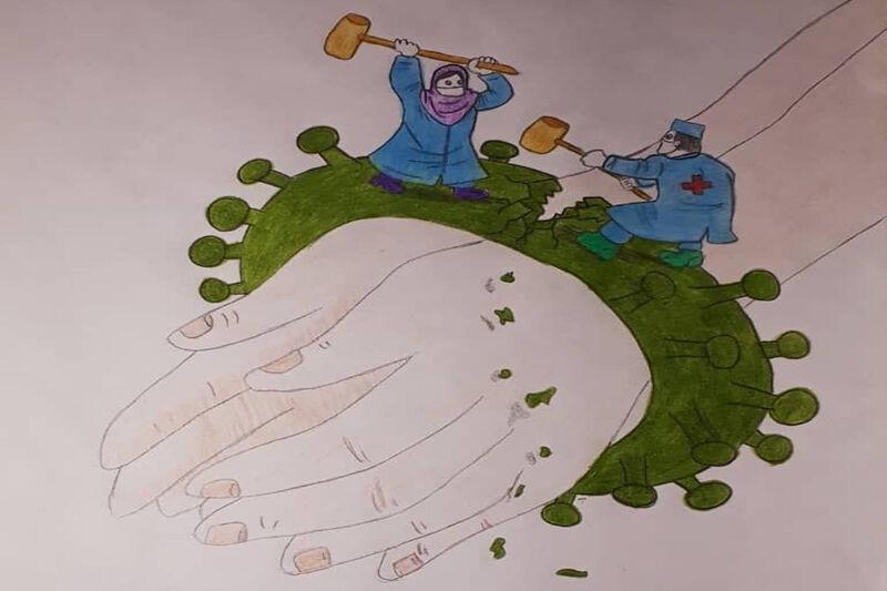 خبرنگاران آثار برتر مسابقه نقاشی با موضوع کرونا در قشم معرفی گردید