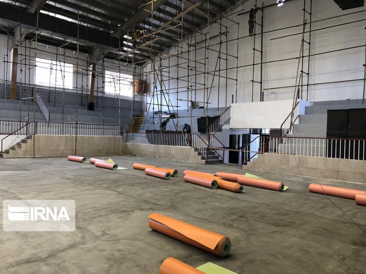 خبرنگاران سالن ورزشی تیم هورسان رامسر برای برگزاری مسابقات لیگ برتر آماده شد